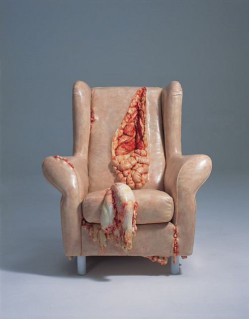 Chair with guts