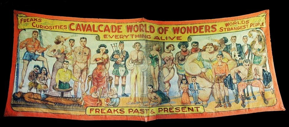 Cavalcade world of wonders sideshow banner by Fred G. Johnson
