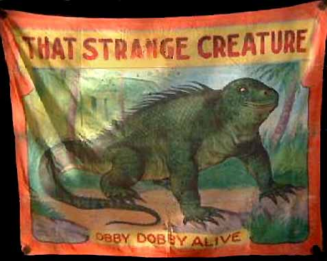 Obby Dobby sideshow banner by Fred G. Johnson