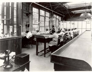Radium Girls at work in a US Radium Corporation factory
