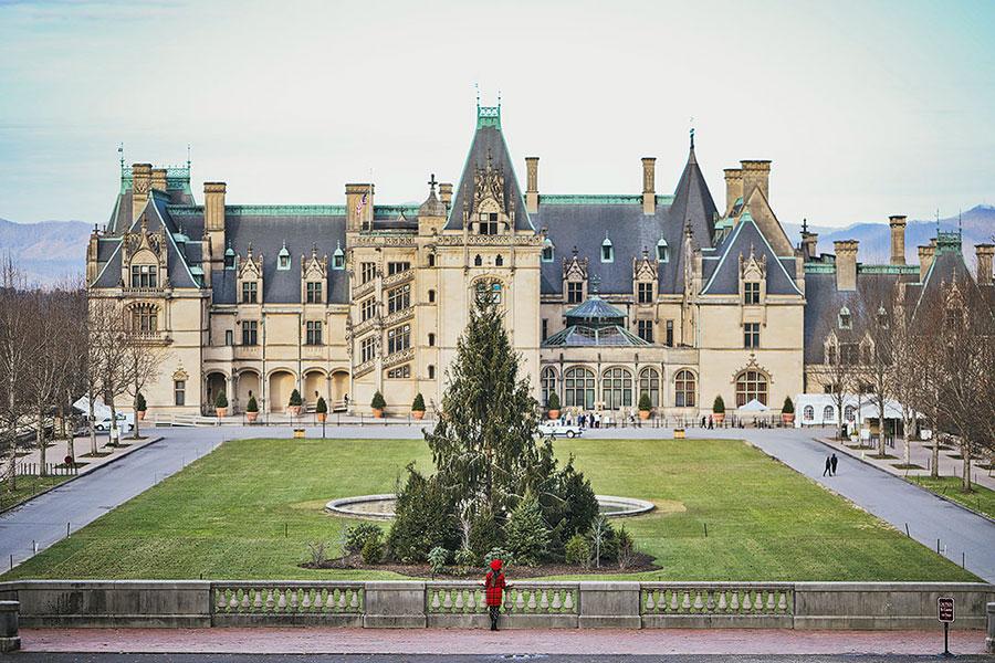The grand Biltmore Estate in Asheville, North Carolina