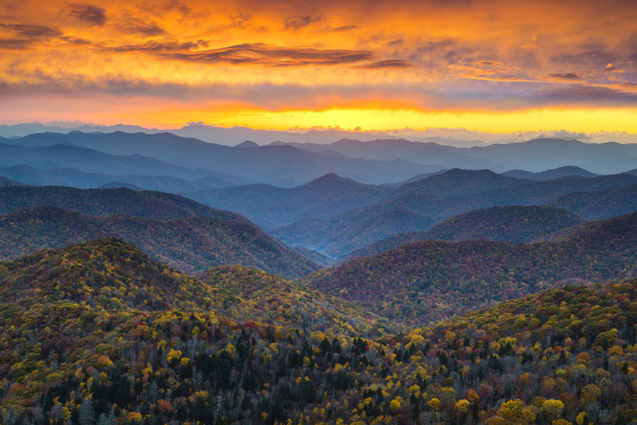 Blue Ridge Mountains, home to Satanists in Asheville, North Carolina