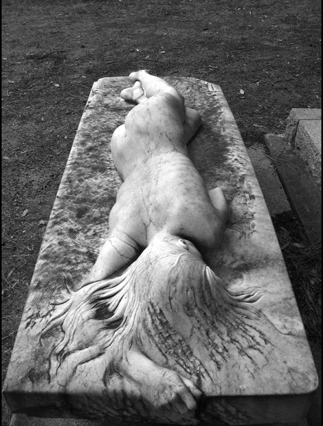 "Laurence Matheson ""Asleep"" gravestone"