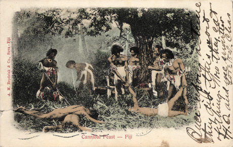 Cannibal feast in Fiji
