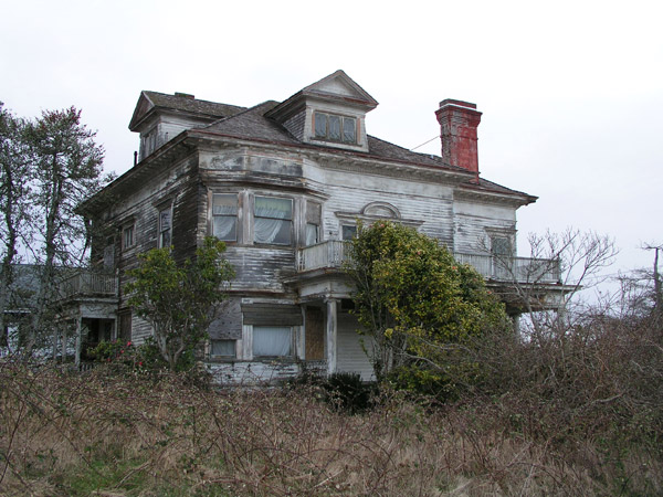 The abandoned Flavel House in Astoria, Oregon