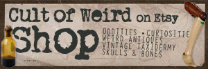 Cult of Weird shop of oddities on Etsy
