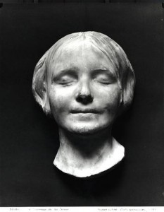 L'Inconnue de la Seine or unknown woman of the Seine plaster death mask