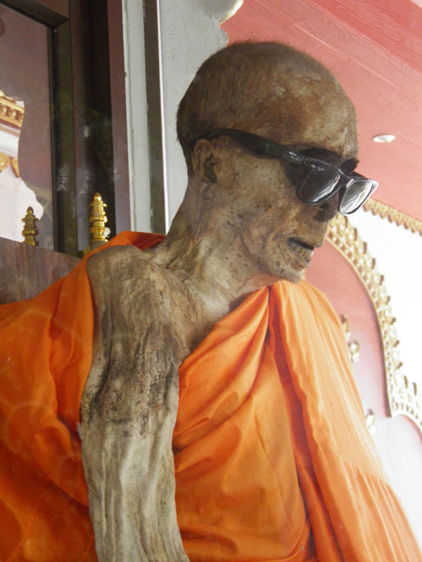 Thailand mummified Buddhist monk