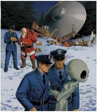 UFO News ~ Armada Of UFOs caught in Chicago Illinois plus MORE Santa-aliens