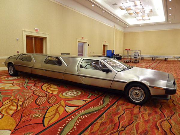 Stainless steel DeLorean limo created by Rich Weissensel