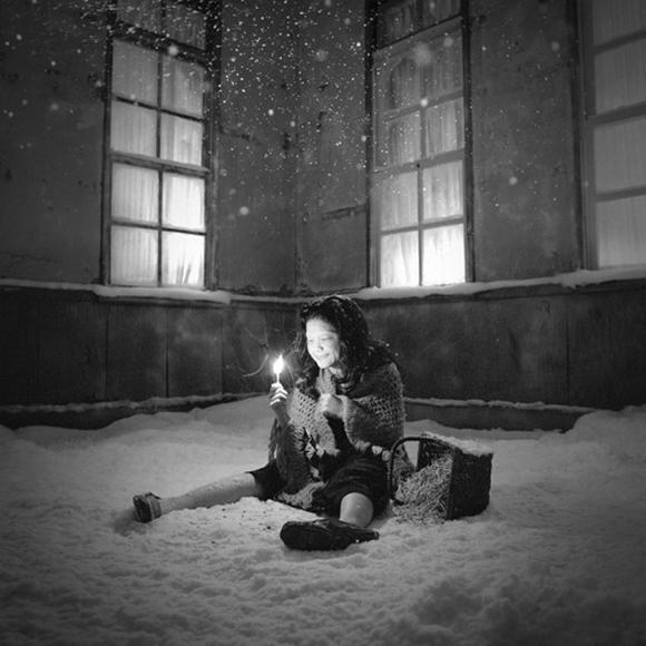 Disturbing black and white fairy tale photos
