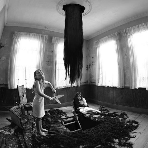 Disturbing black and white fairy tale photos