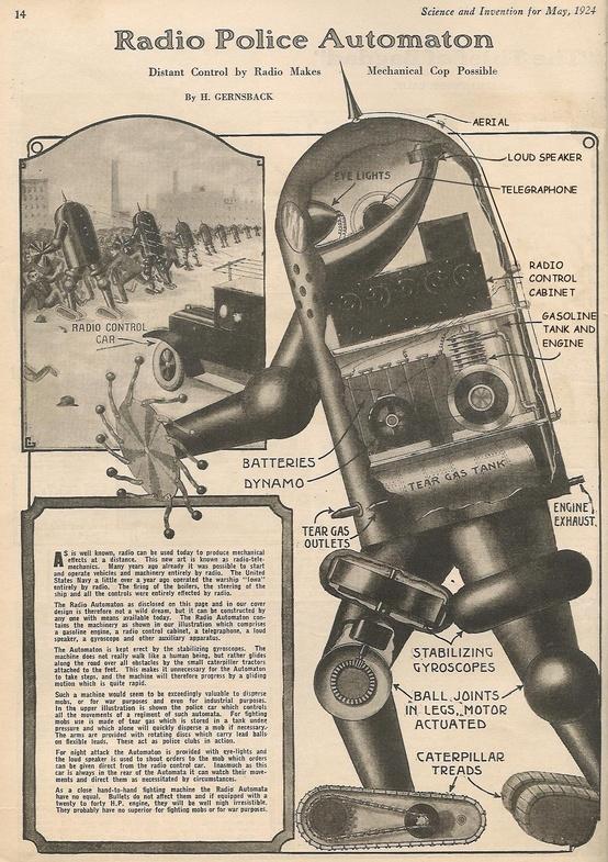 radio police automaton 1924