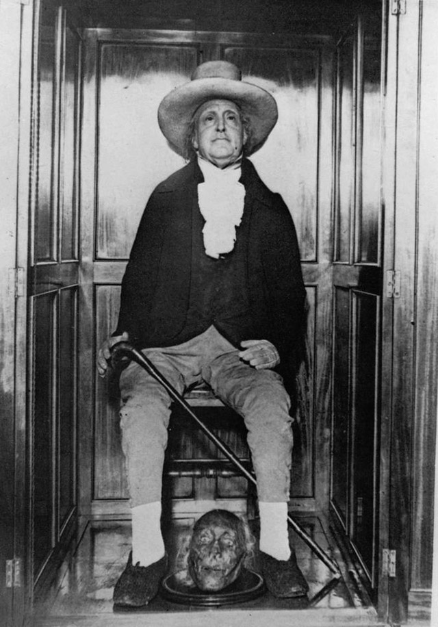 Human taxidermy: The preserved body of philosopher Jeremy Bentham