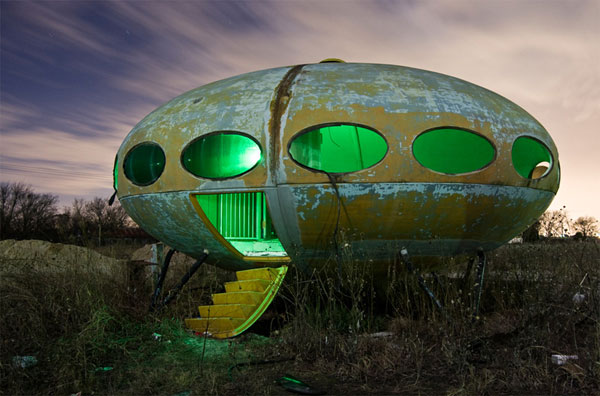 Flying saucer shaped Futuro UFO house
