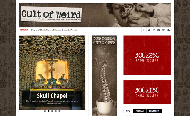 Banner advertising campaign options on Cult of Weird