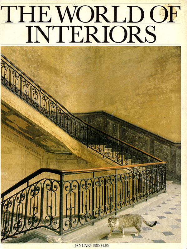 Cover of the January 1985 issue of World of Interiors magazine