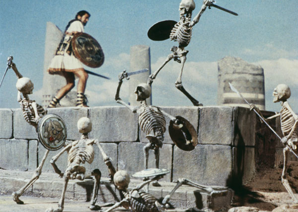 Stop motion skeleton warriors from Jason and the Argonauts