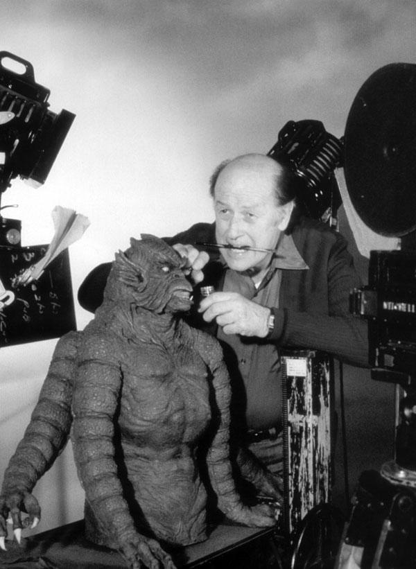 Ray Harryhausen prepares the Kraken for Clash of the Titans