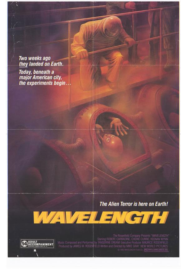 Movie poster for the obscure 1983 sci-fi film Wavelength