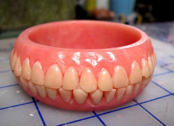 Denture bracelet for sale on Etsy
