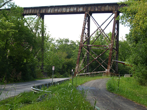 Trestle where the Pope Lick monster lives