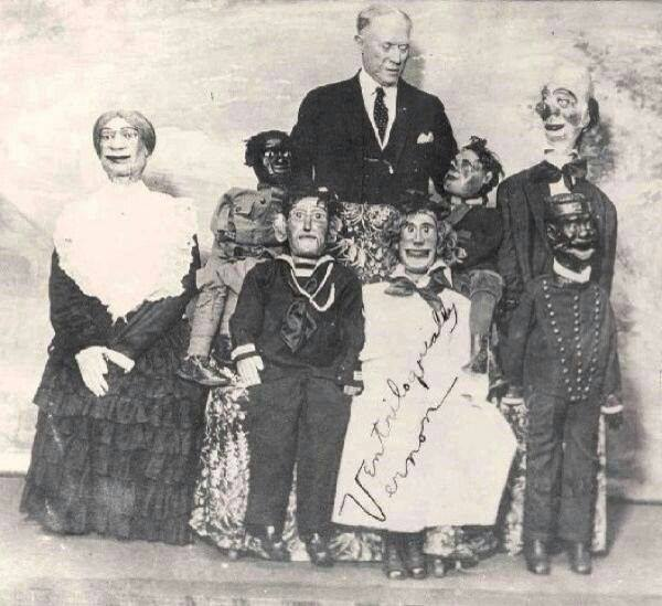 Vintage photo of creepy dolls