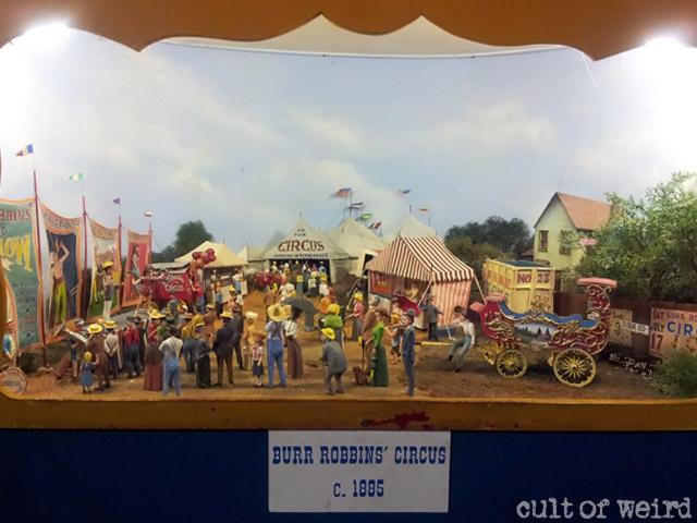 Burr Robbins Circus miniature diorama