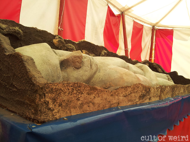Replica of the Cardiff Giant at Circus World