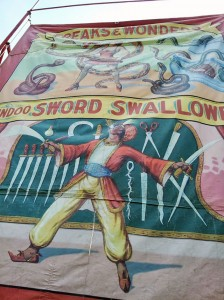 Sideshow banner at Circus World Museum in Baraboo, WI