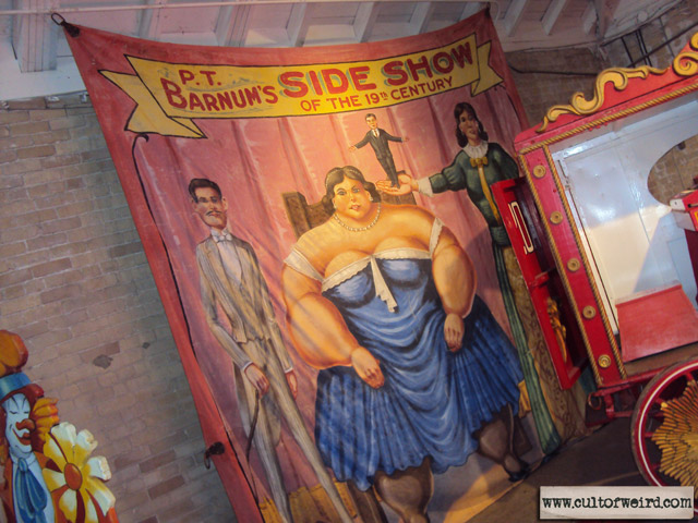 PT Barnum sideshow banner at Circus World Museum in Baraboo, WI