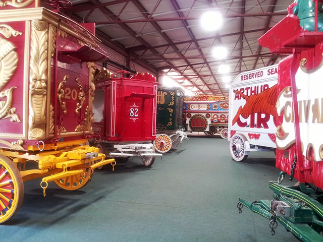 Vintage circus wagons at Circus World