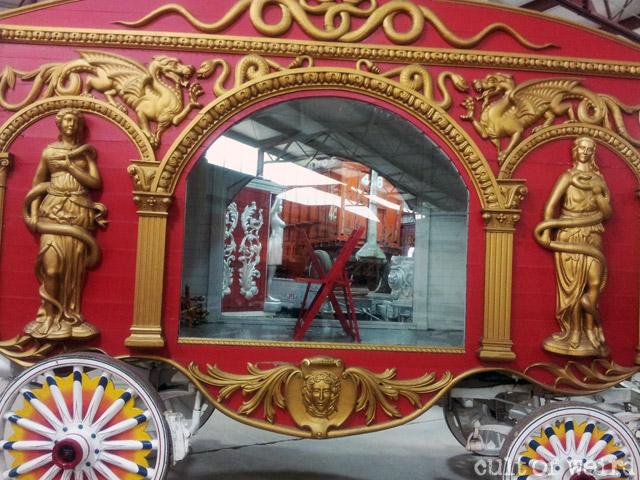 Snake den circus wagon