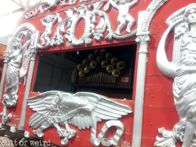 Vintage circus music wagon