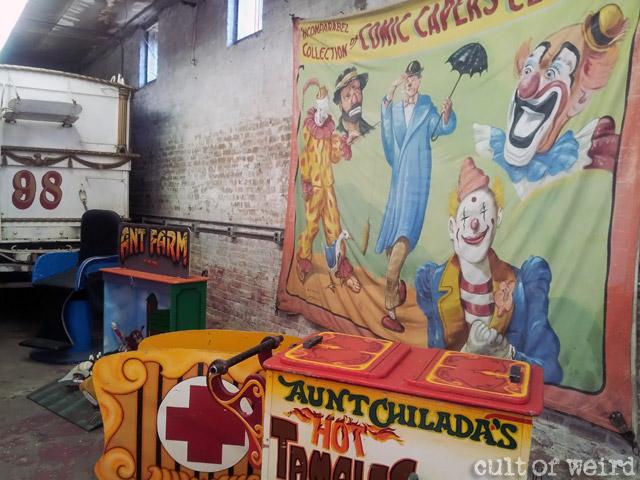 Vintage clown circus banner