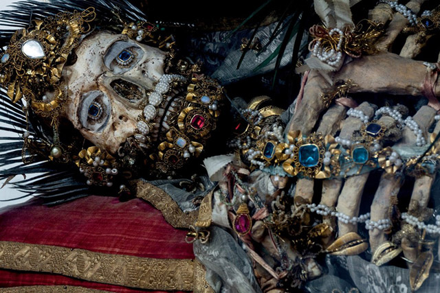The jeweled remains of a Catacomb Saint from Heavenly Bodies