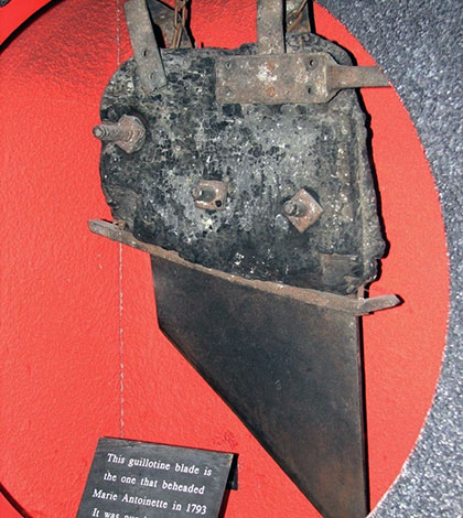 The Guillotine Blade That Beheaded Marie Antoinette