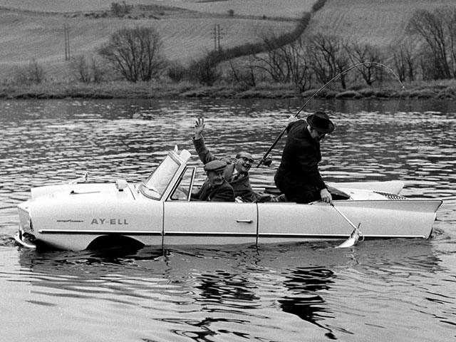 Fishing from an Amphicar