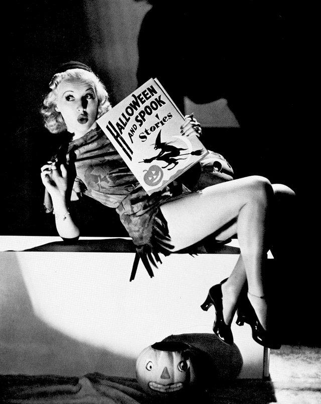 Betty Grable vintage Halloween pinup
