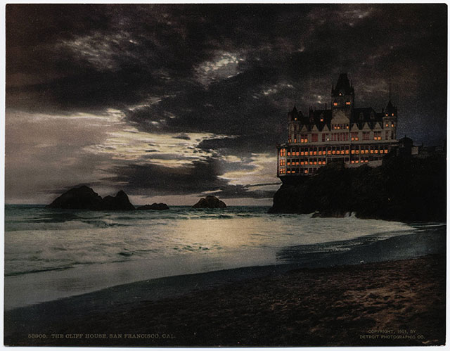 An eerie 1901 postcard of the Cliff House
