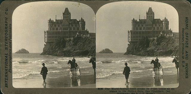 1906 Stereoview image of the Cliff House