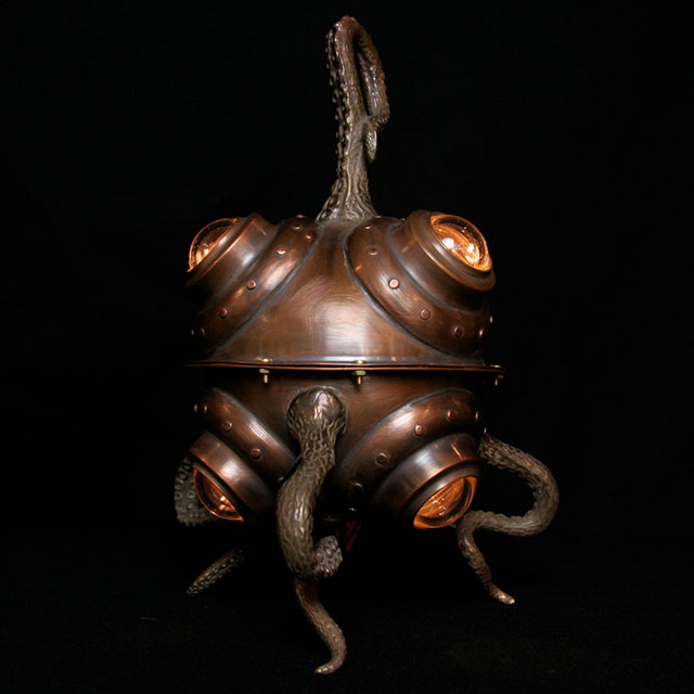 Diving Bell Octo Lamp by Evan Chambers