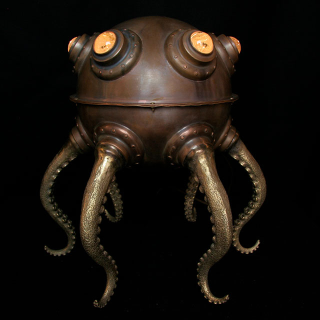 Giant Octopod Lamp by Evan Chambers