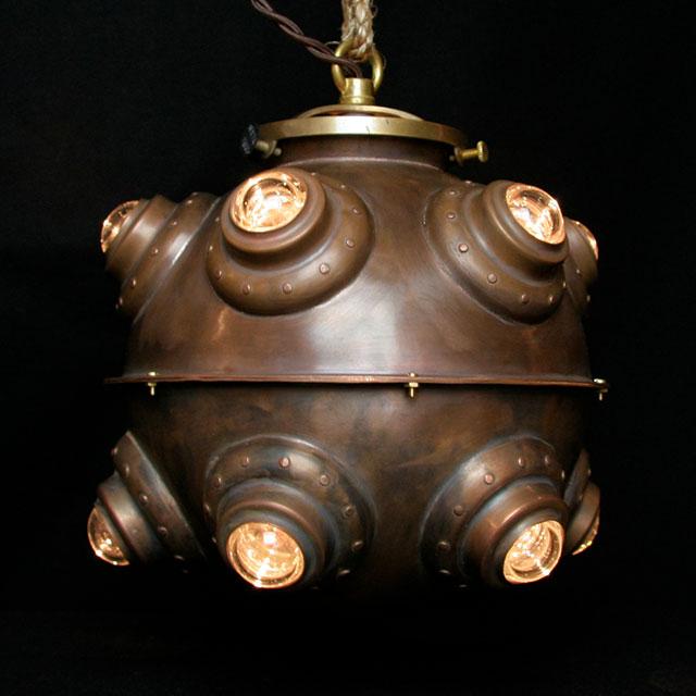 Hanging Bathosphere Lamp by Evan Chambers