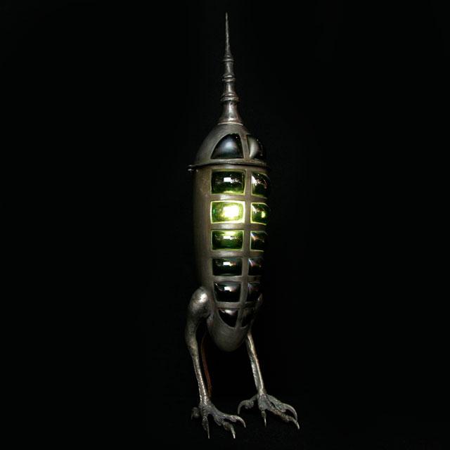 Hawk Rocket lamp by Evan Chambers