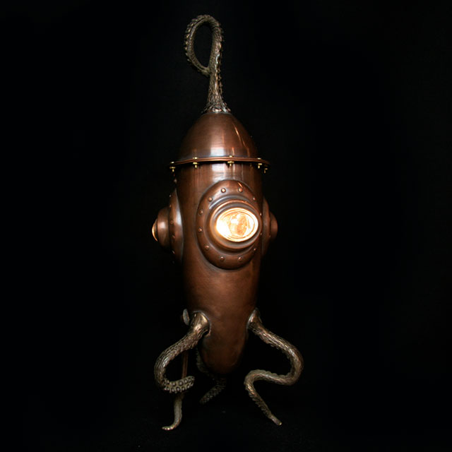 Octo Rocket desk lamp by Evan Chambers