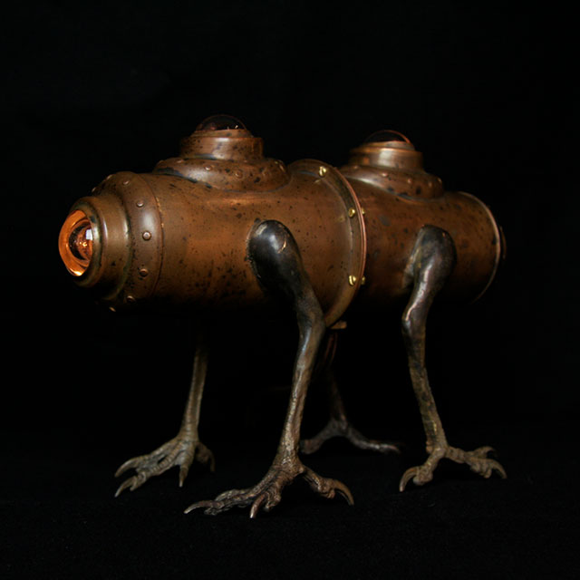 Siamese Twin Horse lamp by Evan Chambers