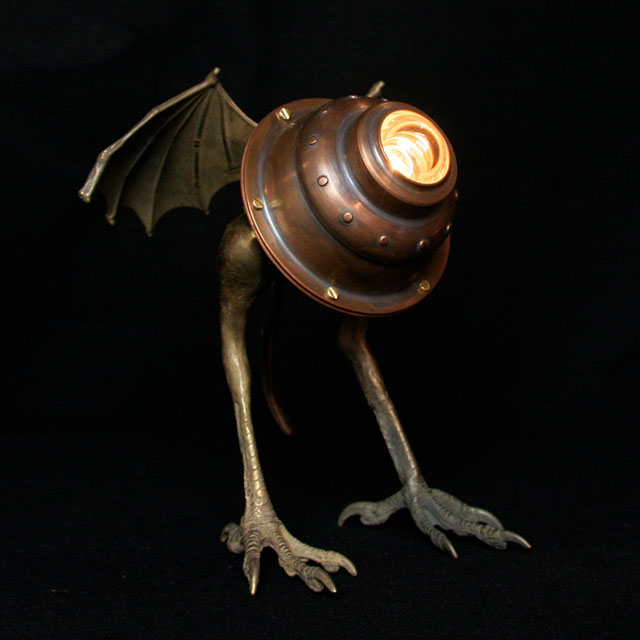 Terrestrial Runt lamp by Evan Chambers