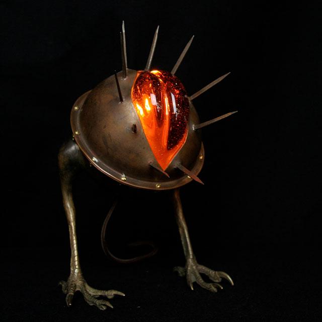 V Monster lamp by Evan Chambers