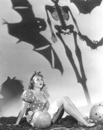 Grace Bradley vintage Halloween pinup